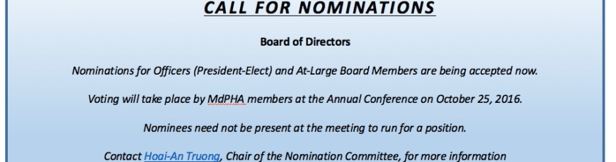 Board/Officer nominations